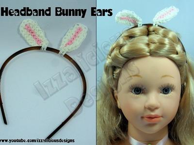 Rainbow Loom Headband Bunny Ear Charms