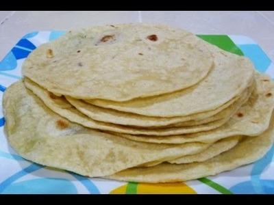 Receta como Hacer Tortillas de Harina