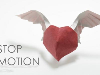 Stop motion: Origami Angel heart (Hoang Tien Quyet)