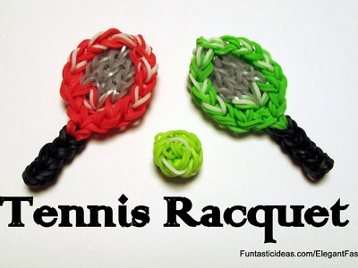 Tennis Racquet Charm - How to Rainbow Loom design -Sport Series