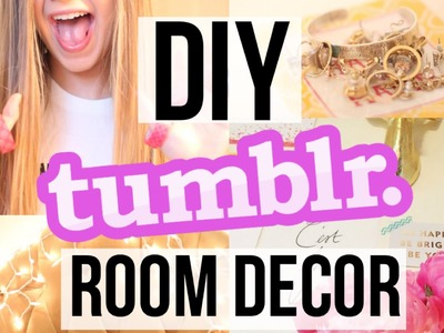 TUMBLR DIY: Easy Ways to Decorate Your Room - Gallery Wall, Twinkle Lights, & MORE!!