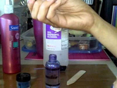 Tutorial;  Home Made Glimmer Mist