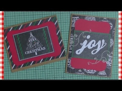 2 Easy Paper & Tape Holiday Cards ~ The Holidays are Coming!