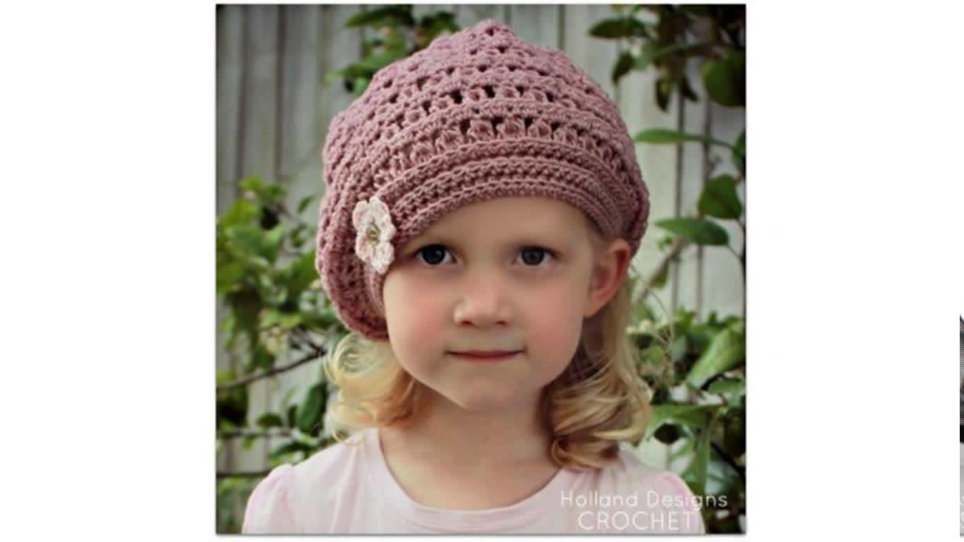 Baby beret crochet pattern