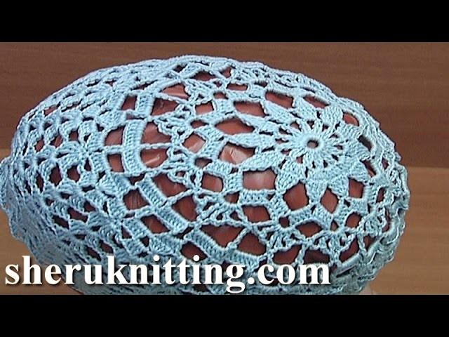 Crochet Lace Summer Hat Tutorial 73 Part 1 of 2