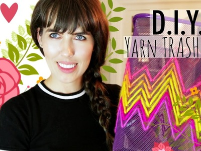 D.I.Y. Yarn Trash Can