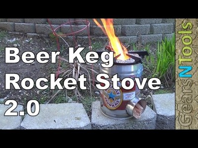 DIY Beer Keg Rocket Stove 2 0 Test Burn