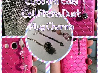 DIY Cell Phone Dust Plug Charms