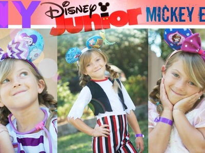 DIY Disney Jr. Mickey Ears Doc, Sofia, and Jake!