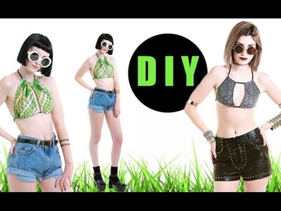 DIY Double Halter Bikini Top (easy)