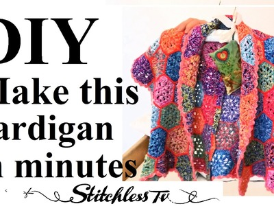 DIY Easy Sew Cardigan without knitting