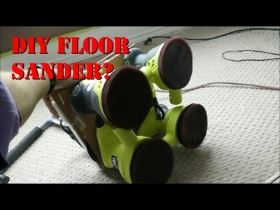 DIY Floor Sander?? How's that for a hack.