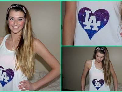 DIY Galaxy Heart Tanktop!