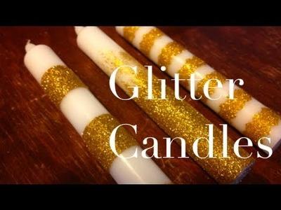 DIY: Glitter Candles ♡ Theeasydiy #RoomDecor
