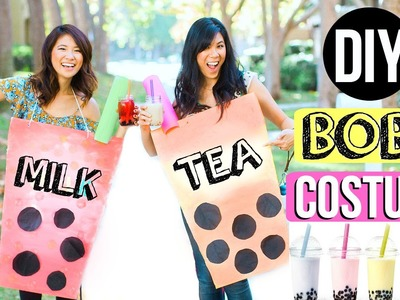 DIY Halloween Costume for Couples! Last Minute Idea - Boba Milk Tea