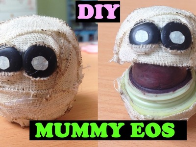 DIY MUMMY HEAD EOS | DIY Cute Halloween EOS Lip Balm