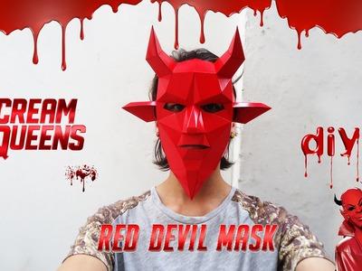 DIY - Red Devil Mask - Scream Queens. Geometric mask. Wintercroft