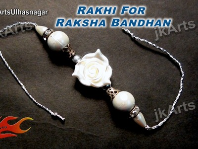 DIY Rose Beads Rakhi for Raksha Bandhan | How to make |  JK Arts 611
