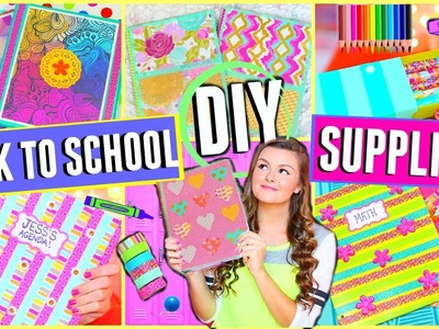 DIY School Supplies for Back to School 2015 + Giveaway!!! (Cute & Easy) ♡  | Jessica Reid