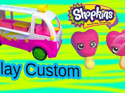 DIY Shopkins Season 3 Ice Cream from Scoops Truck Inspired Clay Custom Craft Toy Video  Cookieswirlc