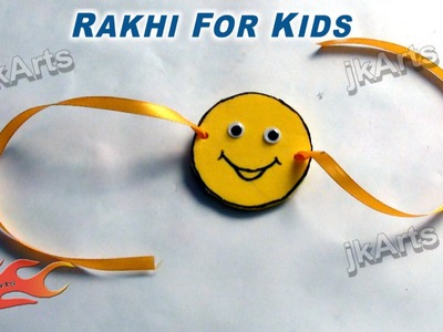 DIY Smiley Rakhi for Kids - JK Arts 285