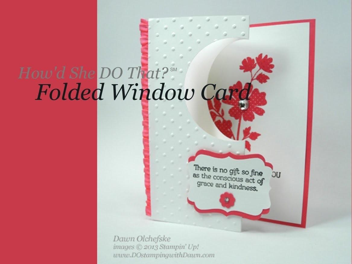 Easy Folded Window Card