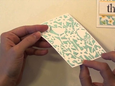 Embossing Paste with DIY Stencils
