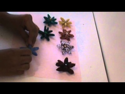 Fabric Bead Flower Tutorial