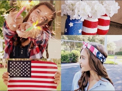 Fourth of July Outfit Ideas & Makeup + DIY Decoration