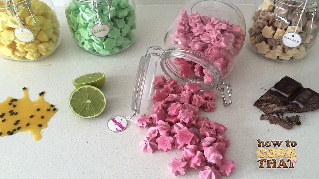 FRUITY MERINGUE KISSES How To Cook That Ann Reardon