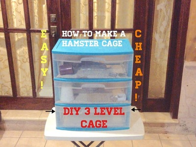 Hamster Cage | DIY | 3 Levels! | Animal Content