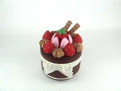 Handmade Musical Flet Cake Box