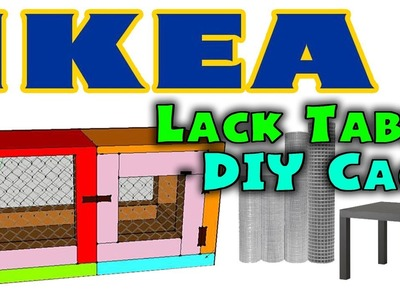 HOW TO: DIY HAMSTER CAGE! - Ikea Lack Table Cage | Designed by ErinsHamsters