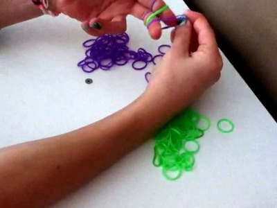 How to do the double fishtail rubber-band bracelet. (Without the loom)