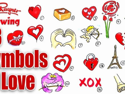 How to draw 23 symbols of love