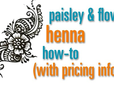 How to Draw a Flower & Paisley Henna. Mehndi design : festival pricing