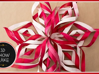 ❆ How To Make 3D Paper Snowflake Decorations Out Of Paper | DIY Tutorial ❆