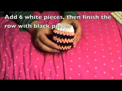 How to make a 3d origami tiger