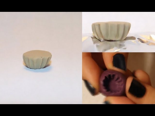 How To Make A Miniature Cupcake Base & Mold ~ Clay Tutorial