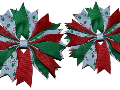 How To Make A Ribbon Spike Pinwheel Hair Bow Tutorial