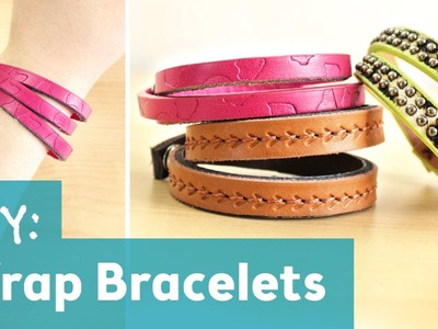 How to Make Leather Wrap Bracelets