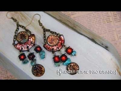 How to make Stamped Friendly Plastic Boho Style Earrings