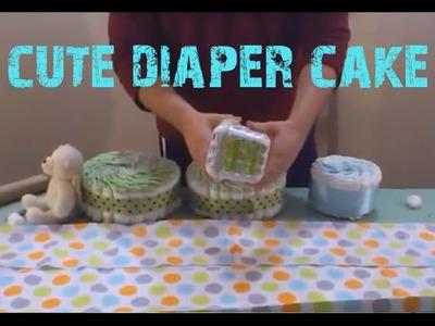 John Deere Tractor Diaper Cake Tutorial