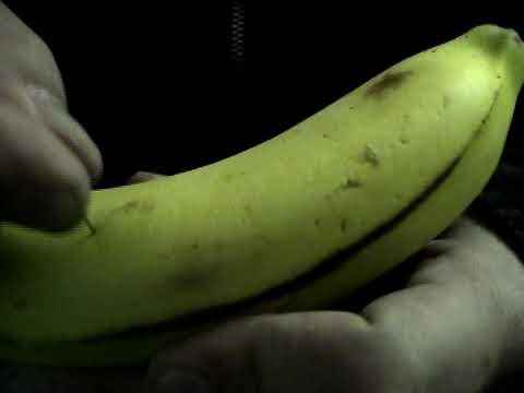 Magic banana, already sliced inside!