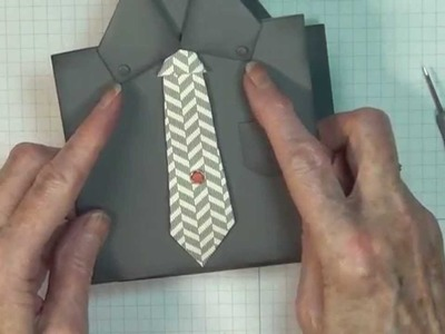 Masculine Shirt & Tie Card