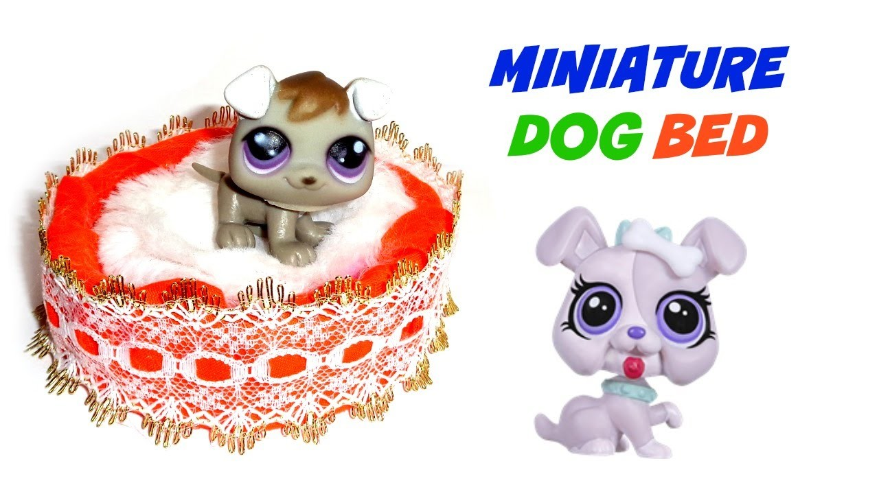 Miniature Dog Bed - DIY LPS Crafts & Doll Crafts