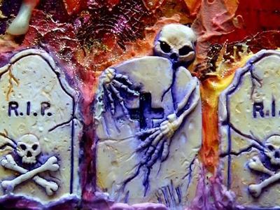 Mixed Media Art Canvas - Halloween
