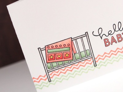 NEW Spring Release - Hello Baby Card