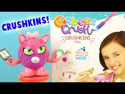 Orbeez Crush Crushkins Pets Doggy and Kitty Toy Review - DIY Kids Crafts