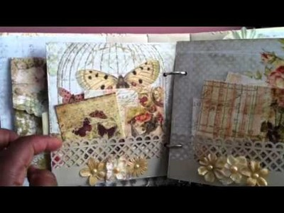 Pink Paisley Butterfly Garden Mini album